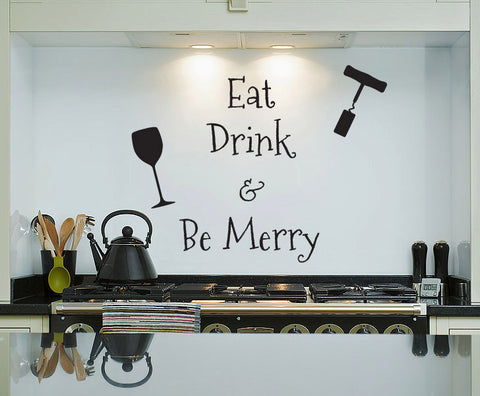 Eat Drink Be Merry - Wall Decal