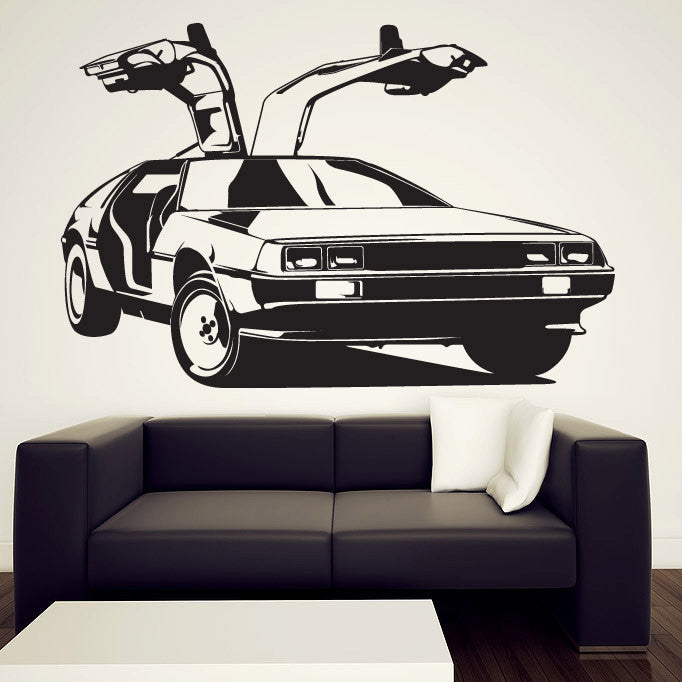 Delorean Wall Decal – Back to the Future