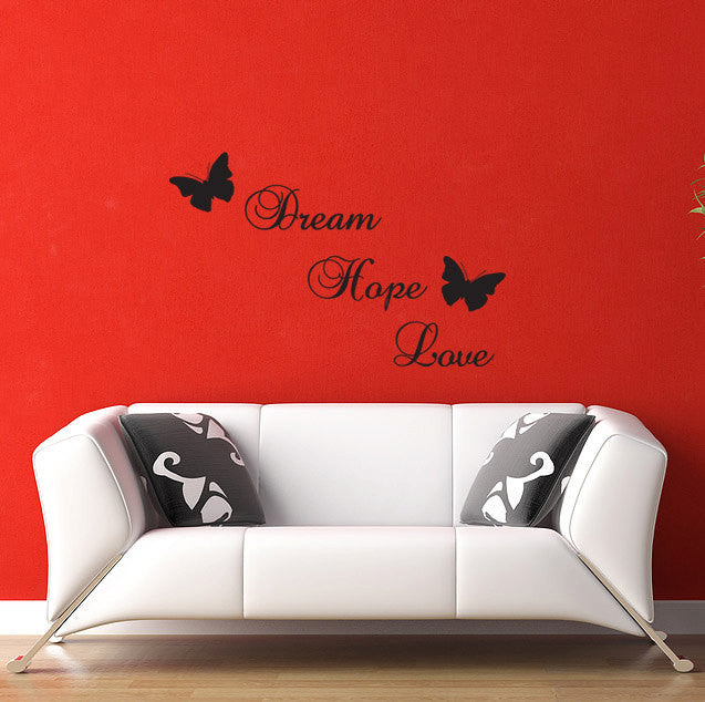 Dream Hope Love Wall Decal