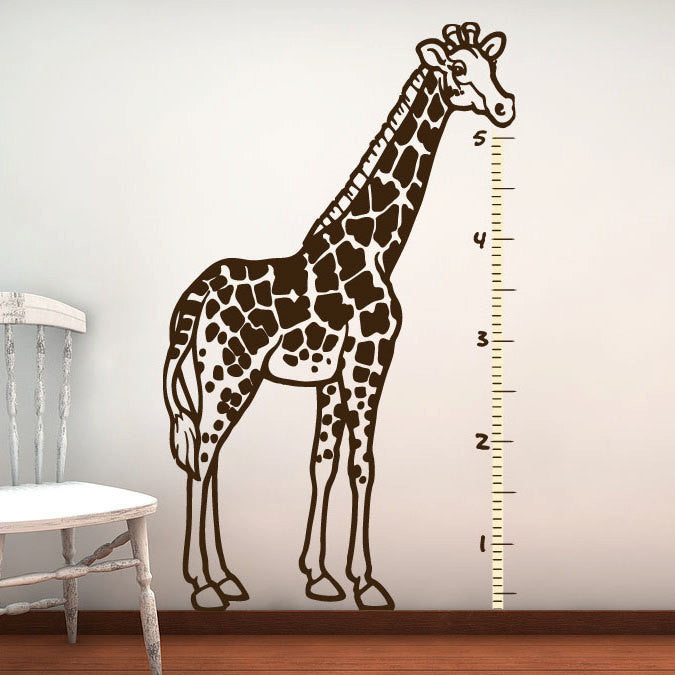 Giraffe Wall Decal - Kids Growth Chart