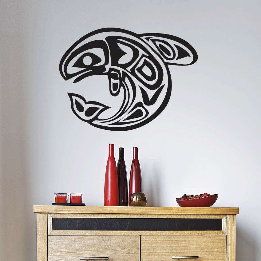 "Native American Fish Wall Decal - (23"" )"