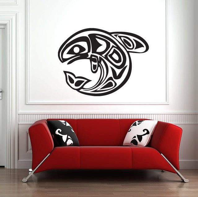 "Native American Fish Wall Decal  (44"" )"