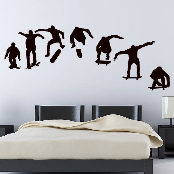 Skateboarder Wall Decal Set