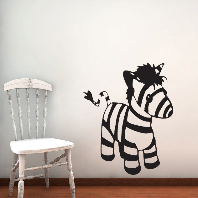 Zebra Wall Decal- Stuffed Animal