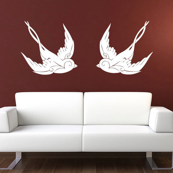 Vintage Sparrow Wall Decal