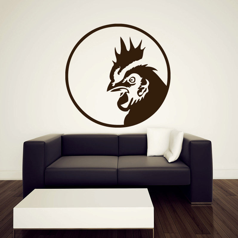 Rooster Wall Decal 36""