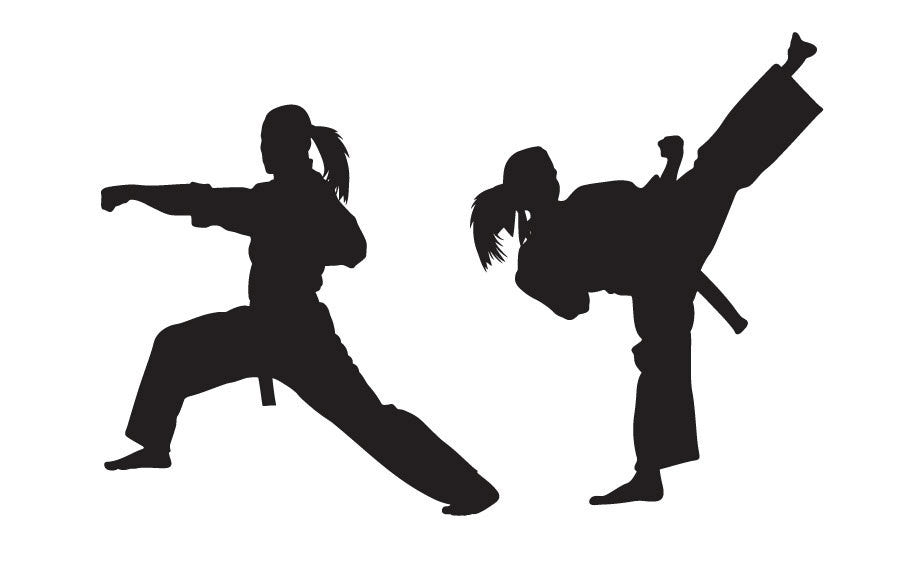 Karate Wall Decal - GIRL VERSION