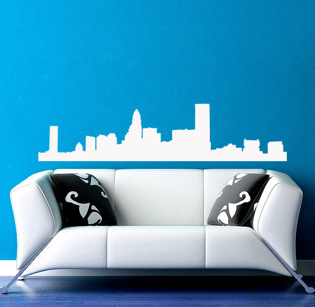 Charlotte Skyline Wall Decal