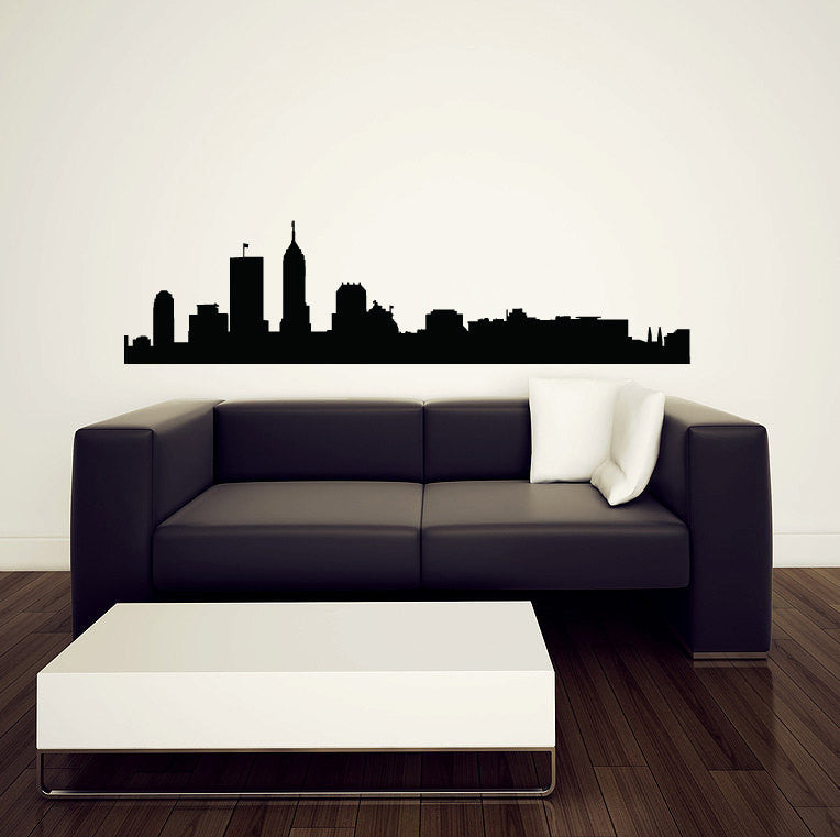 Indianapolis Skyline Wall Decal