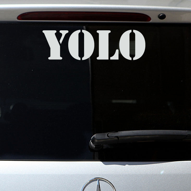 YOLO Decal - Military Letters