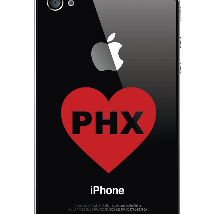 Phoenix Love Decal - I Heart Phoenix