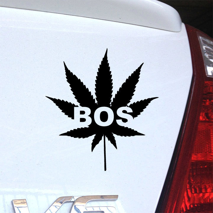 Boston Pot Leaf Decal