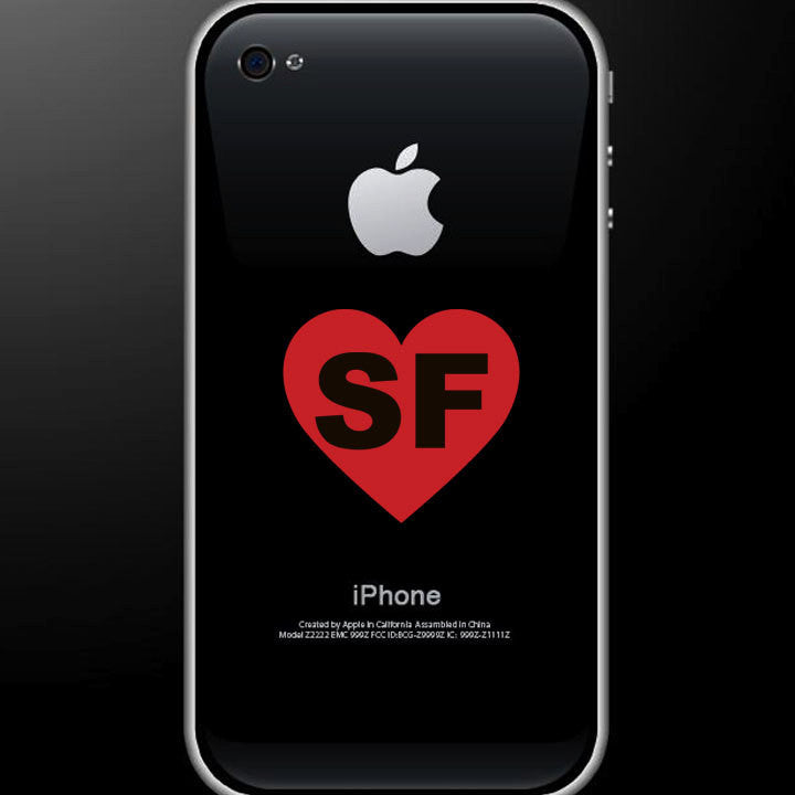 San Francisco Love - I Heart SF Decal