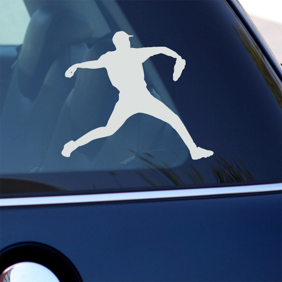 Baseball Pitcher Decal