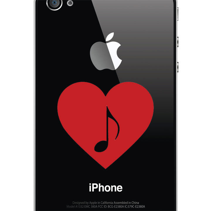 I Love Music Decal – Musical Note