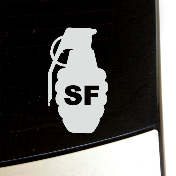 San Francisco Grenade Decal