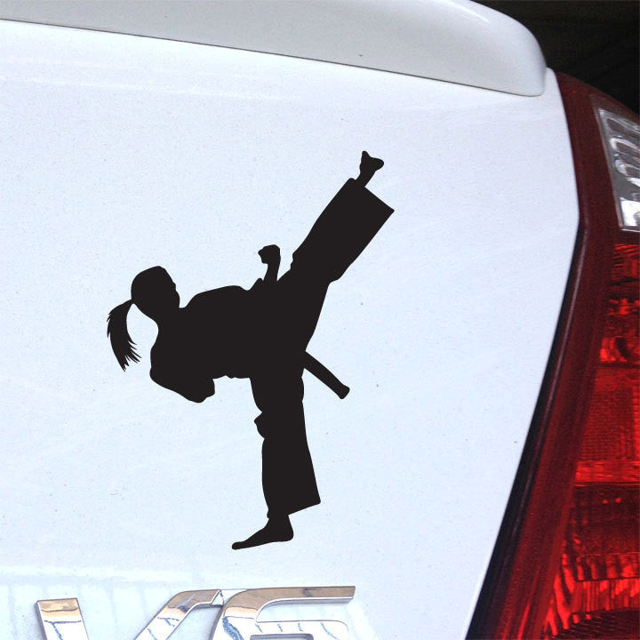 Karate Girl Decal