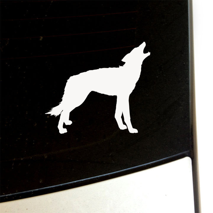 Howling Coyote Decal