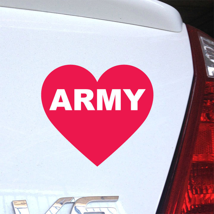 Army Love Decal