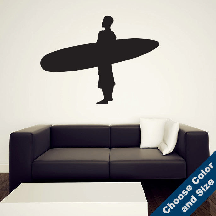 Standing Surfer Wall Decal