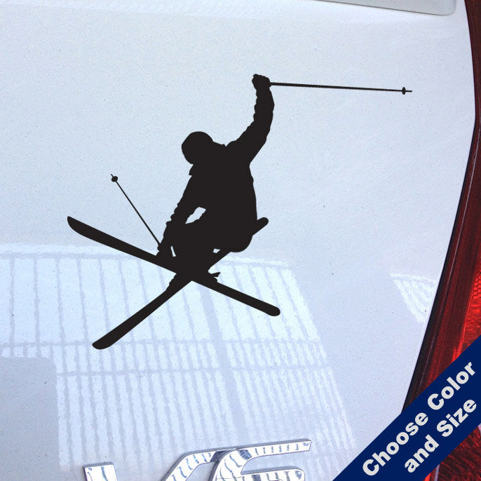 Heli Iron Cross Skier Decal