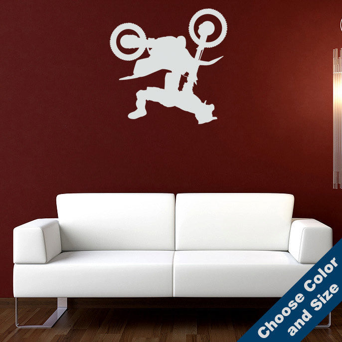 Motocross Backflip Wall Decal