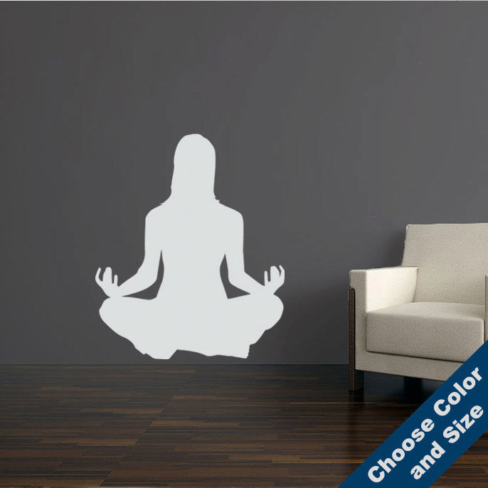 Meditating Woman Wall Decal