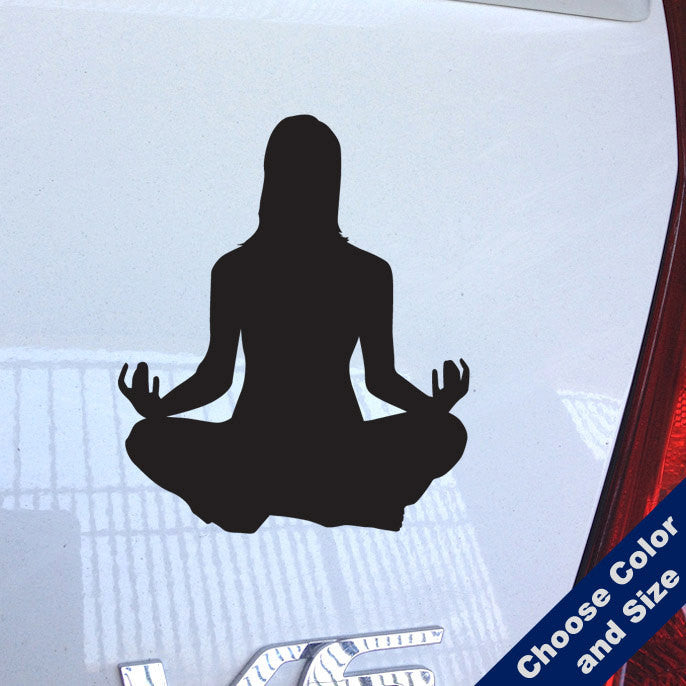 Meditating Woman Decal
