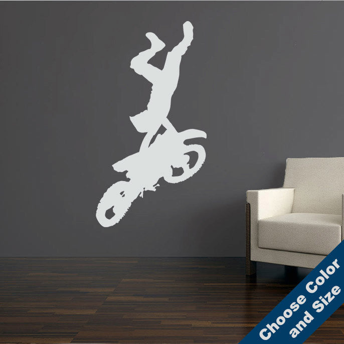 Motocross Handstand Wall Decal