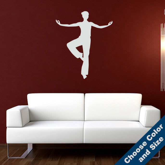 Standing Meditating Woman Wall Decal