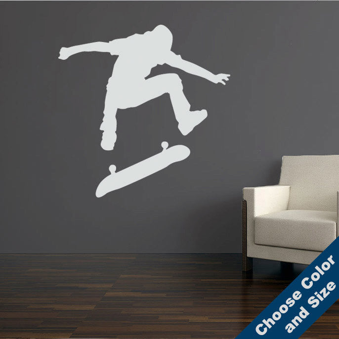 Skateboard Kickflip Wall Decal
