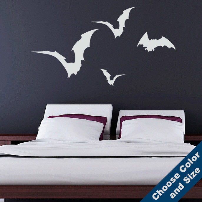 Flying Bats Wall Decal