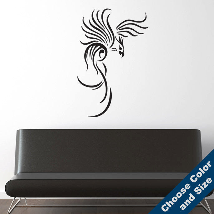 Tribal Phoenix Wall Decal