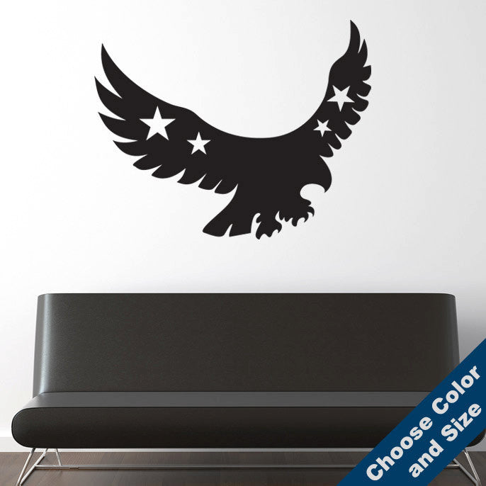 Patriotic Eagle Wall Decal