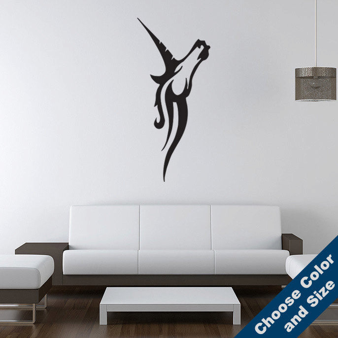 Unicorn Head Wall Decal