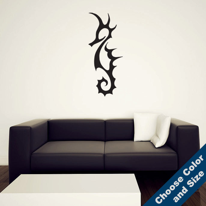 Tribal Seahorse Wall Decal
