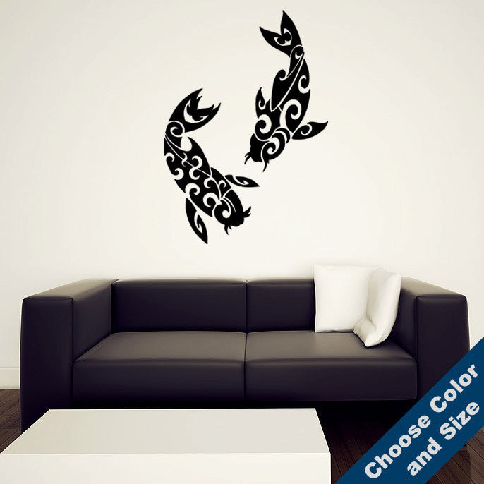 Tribal Koi Wall Decal Set