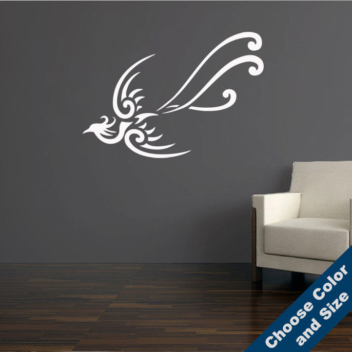 Tribal Peacock Wall Decal