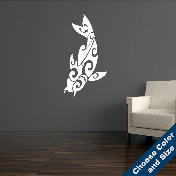 Tribal Koi Version 2 Wall Decal
