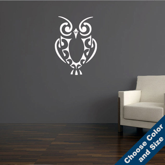 Retro Owl Wall Decal