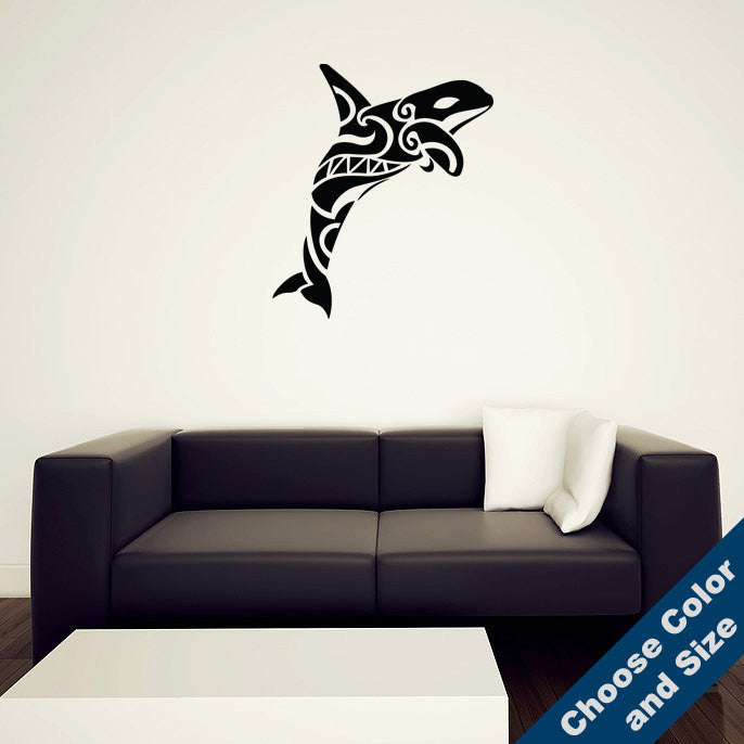 Native Orca Whale Wall Decal
