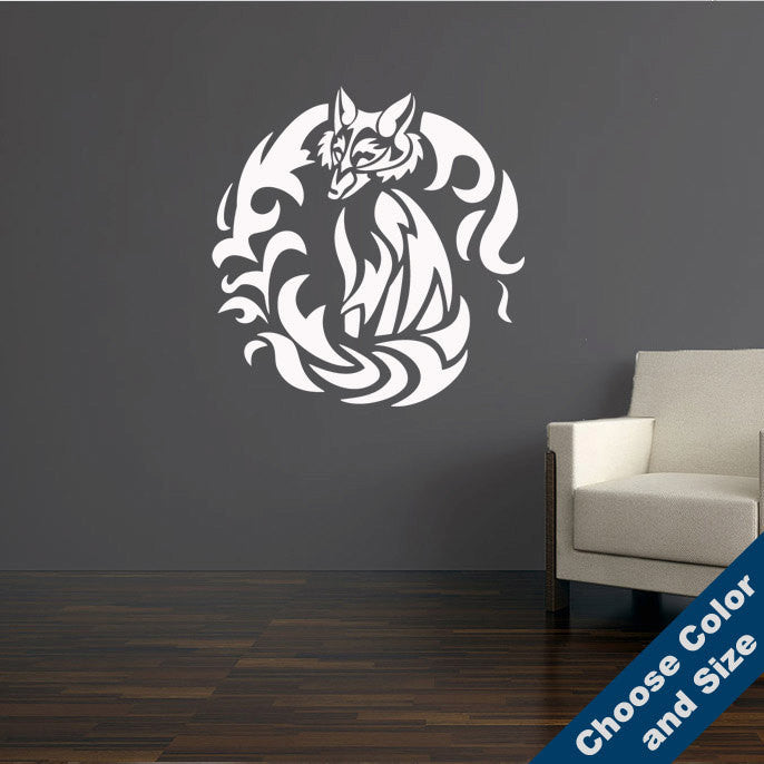 Tribal Fox Wall Decal