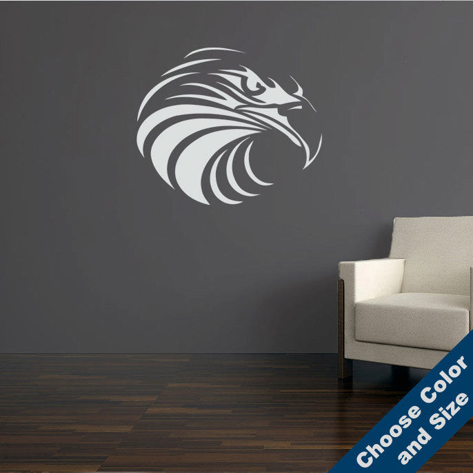 Hawk Face Wall Decal