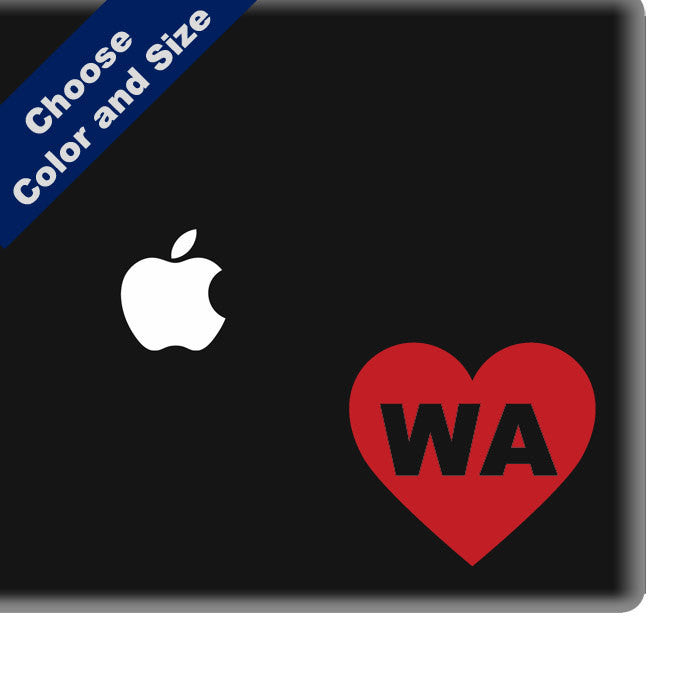 I Heart Washington Decal