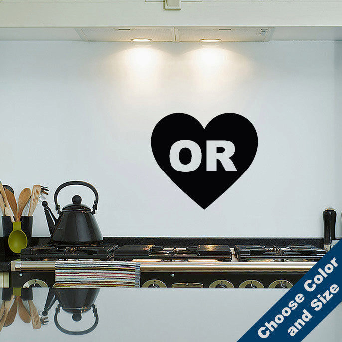 I Heart Oregon Wall Decal