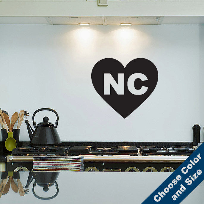 I Heart North Carolina Wall Decal