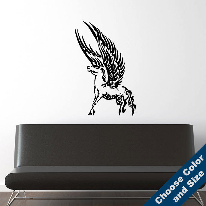 Tribal Pegasus Wall Decal