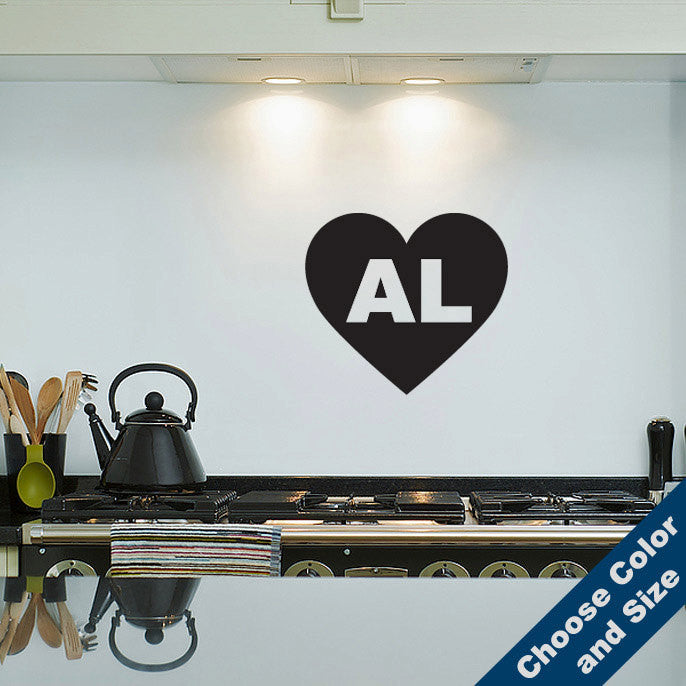 I Heart Alabama Wall Decal