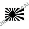 Imperial Japanese Flag Decal, Vinyl Sticker