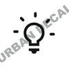 Lightbulb Decal, Vinyl Sticker